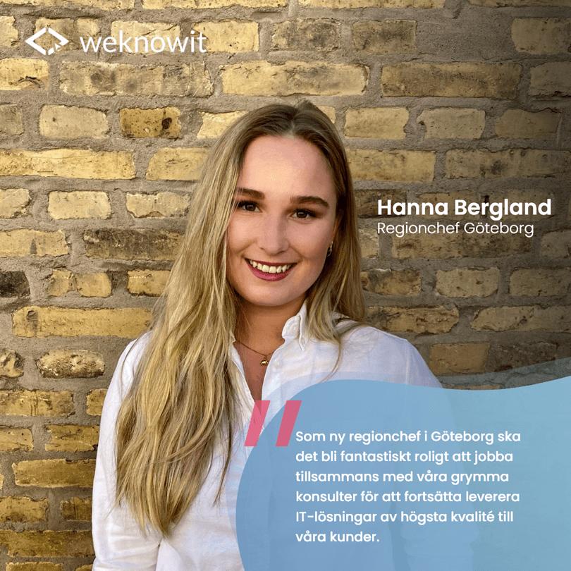Intervju med vår nya Regionchef i Göteborg! Välkommen till We Know IT Hanna Bergland!