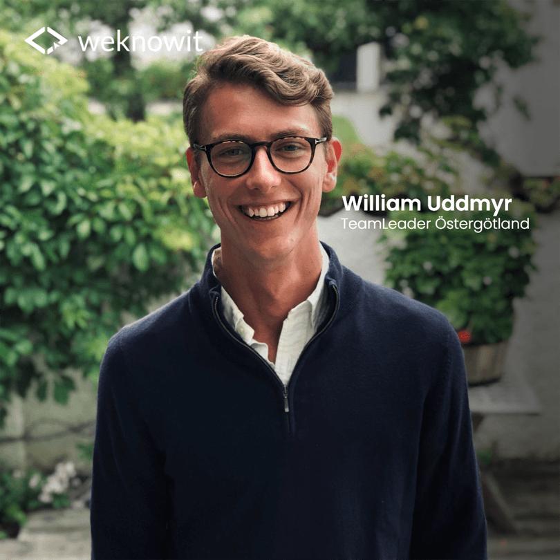 Intervju med William Uddmyr, vår nya TeamLeader i Linköping och Norrköping! Från webbutvecklare till projektledare på We Know IT.